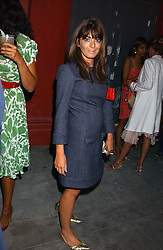 CLAUDIA WINKLMAN at the launch of 'Blow Lips' a new lipstick by Isabella Blow and MAC Makeup held at the the Blow de la Barra Gallery, 35 Heddon Street, London on 7th September 2005.<br /><br />NON EXCLUSIVE - WORLD RIGHTS