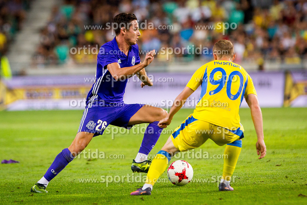 Florian Thauvin of Olympic Marseille during football match between NK Domzale and Olympique de Marseille in First game of UEFA Europa League playoff round, on August 17, 2017 in SRC Stozice, Ljubljana, Slovenia. Photo by Ziga Zupan / Sportida
