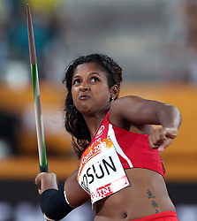 Mauritius' Selma Rosun competes in the Women's Javelin Throw Final at the Carrara Stadium during day seven of the 2018 Commonwealth Games in the Gold Coast, Australia. PRESS ASSOCIATION Photo. Picture date: Wednesday April 11, 2018. See PA story COMMONWEALTH Athletics. Photo credit should read: Danny Lawson/PA Wire. RESTRICTIONS: Editorial use only. No commercial use. No video emulation.
