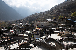 View from the Buddhist monastery in Marpha on day-5  of our Himalayan Heroes adventure riding from Kalopani through the Mustang District to our highest elevation of the trip at over 12,000' when we reached Muktinath, Nepal. Saturday, November 10, 2018. Photography ©2018 Michael Lichter.