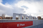 El pozo train station, memorial monument. Madrid, Spain.