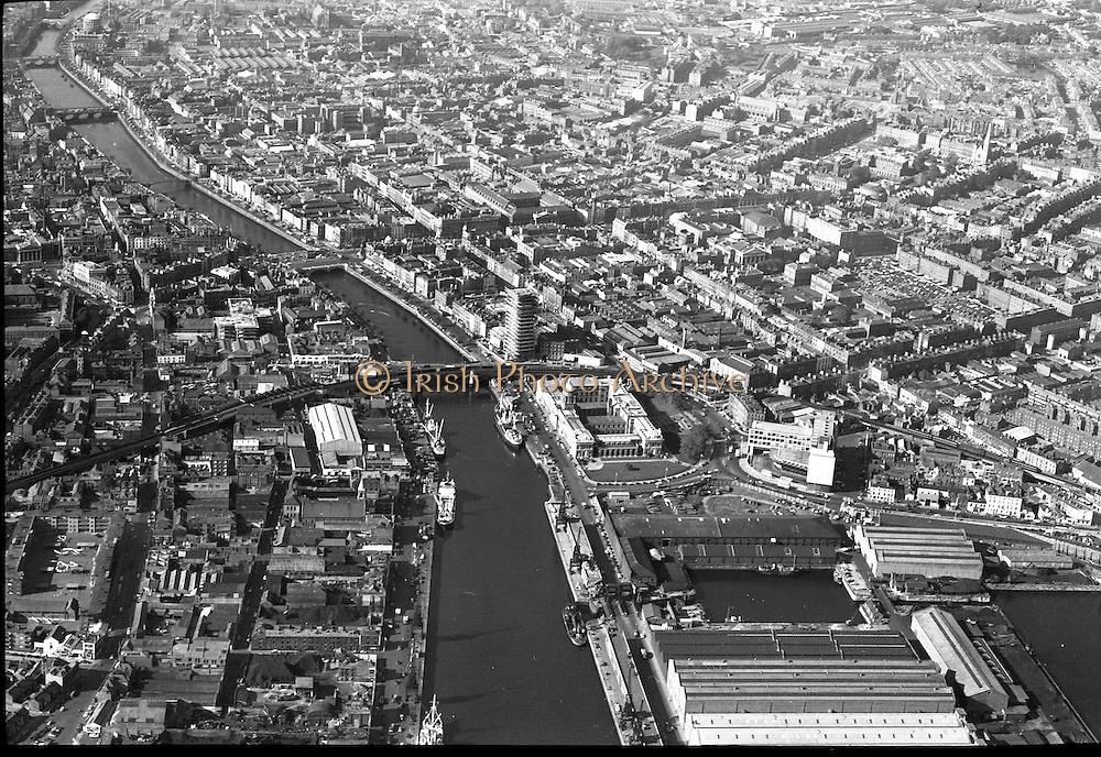 Aerial View of Dublin.06/11/1963 Photos, Photo, Snap, Streets, Street,