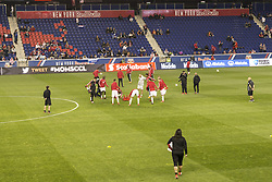March 1, 2018 - Harrison, New Jersey, United States - Players of New York Red Bulls warming up before 2018 CONCACAF Champions League round of 16 game against CD Olimpia of Honduras at Red Bull arena, Red Bulls won 2 - 0  (Credit Image: © Lev Radin/Pacific Press via ZUMA Wire)