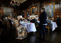 Prue Leith (right) addresses nutritionist to the stars Jane Clarke (left) as she attends A Very Special Afternoon Tea with Terry Jones as they launch Nourish website and community, which is dedicated to helping people with cancer and dementia through the power of good food and expert support, at the Royal Hospital Chelsea in London.