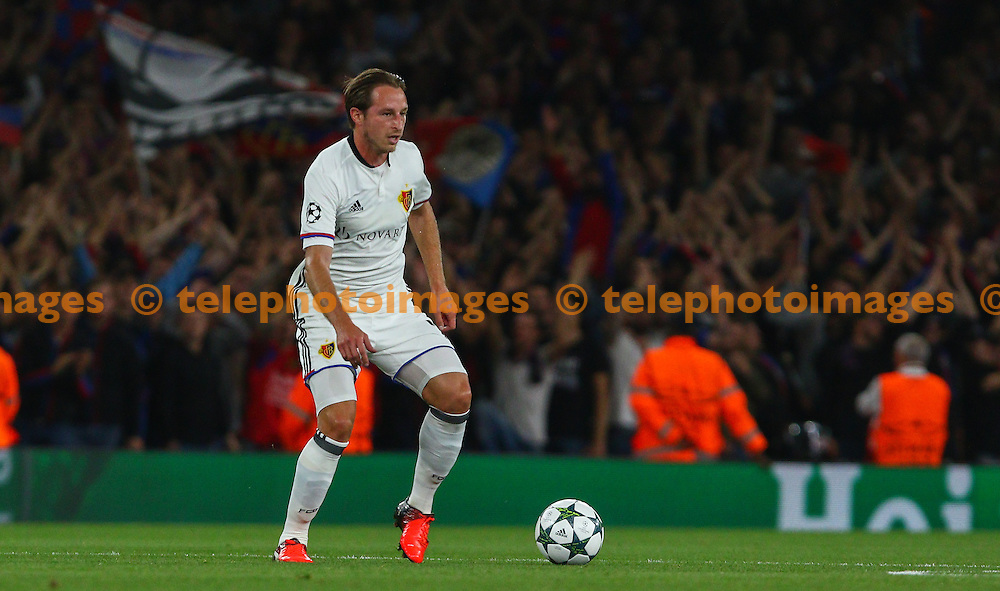 Luca Zuffi of Basel during the UEFA Champions League Group A match between Arsenal and FC Basel at the Emirates Stadium in London. September 28, 2016.<br /> Arron Gent / Telephoto Images<br /> +44 7967 642437