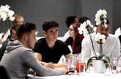 Callum O'Dowda, Josh Brownhill and Richard O'Donnell of Bristol City take part in the Community Trust Quiz - Mandatory by-line: Robbie Stephenson/JMP - 19/09/2016 - FOOTBALL - Ashton Gate - Bristol, England - Bristol City Community Trust Quiz