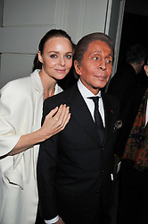 STELLA McCARTNEY and VALENTINO at a private view of 'Valentino: Master Of Couture' at Somerset House, London on 28th November 2012.