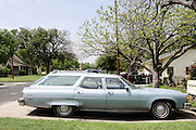 An old station wagon in Round Rock, Texas