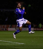 Photo: Steve Bond.<br />Leicester City v Leeds United. Coca Cola Championship. 13/03/2007. Levi Porter celebrates
