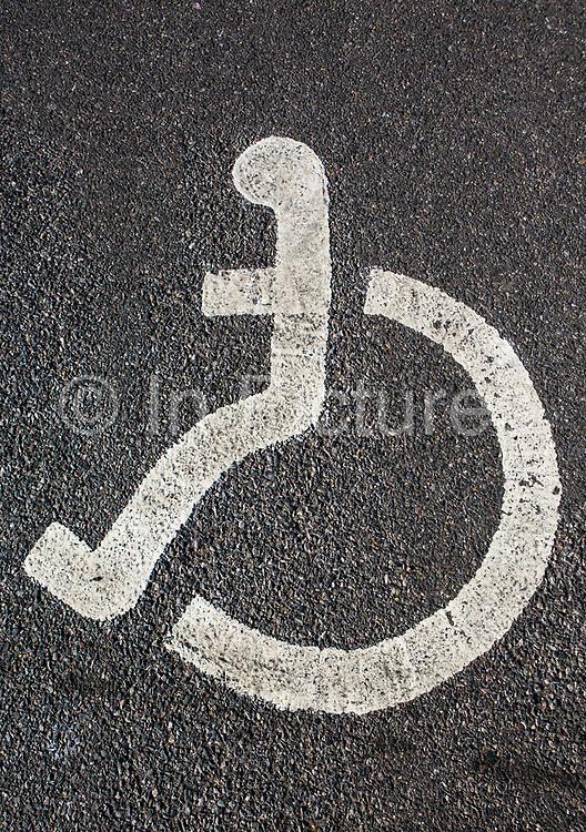 Disabled badge holders sign. London, UK.