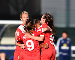 Bristol Academy Women players celebrate Jade Boho Sayo's debut goal - Mandatory by-line: Paul Knight/JMP - 25/07/2015 - SPORT - FOOTBALL - Bristol, England - Stoke Gifford Stadium - Bristol Academy Women v Sunderland AFC Ladies - FA Women's Super League