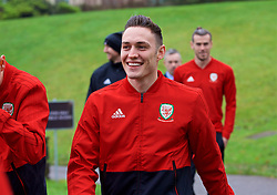 CARDIFF, WALES - Friday, November 16, 2018: Wales' Connor Roberts during a pre-match walk at the Vale Resort ahead of the UEFA Nations League Group Stage League B Group 4 match between Wales and Denmark. (Pic by David Rawcliffe/Propaganda)