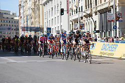 Lucinda Brand & Emilia Fahlin lead the bunch at Madrid Challenge by la Vuelta 2017 - a 87 km road race on September 10, 2017, in Madrid, Spain. (Photo by Sean Robinson/Velofocus.com)