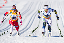 March 10, 2019 - Oslo, NORWAY - 190310 Ingvild Flugstad Østberg of Norway and Ebba Andersson of Sweden crosses the finish line in the women's 30 km classic technique mass start during the FIS World Cup on March 10, 2019 in Oslo..Photo: Jon Olav Nesvold / BILDBYRÃ…N / kod JE / 160424 (Credit Image: © Jon Olav Nesvold/Bildbyran via ZUMA Press)
