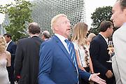 BORIS BECKER, 2016 SERPENTINE SUMMER FUNDRAISER PARTY CO-HOSTED BY TOMMY HILFIGER. Serpentine Pavilion, Designed by Bjarke Ingels (BIG), Kensington Gardens. London. 6 July 2016