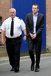 Jeremy Forrest - The 30-year-old maths teacher from Ringmer, East Sussex, UK, disappeared with 15-year-old pupil Megan Stammers on September 20 and was arrested in the south-west French city on Friday.<br /> <br /> Jeremy Forrest arrives At Lewes Crown Court, East Sussex, UK, June 11, 2013. Photo by:  i-Images