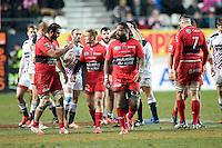 Mathieu Bastareaud - 28.12.2014 - Stade Francais / Racing Club Toulon - 14eme journee de Top 14<br />Photo : Aurelien Meunier / Icon Sport