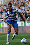 Reading midfielder Jordan Obita on the ball during the Sky Bet Championship match between Reading and Middlesbrough at the Madejski Stadium, Reading, England on 3 October 2015. Photo by Alan Franklin.
