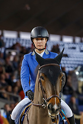Vorsselmans Annelies (BEL) - Osaka<br /> Winner of the Queens Cup<br /> Vlaanderens Kerst Jumping Mechelen 2013<br /> © Dirk Caremans