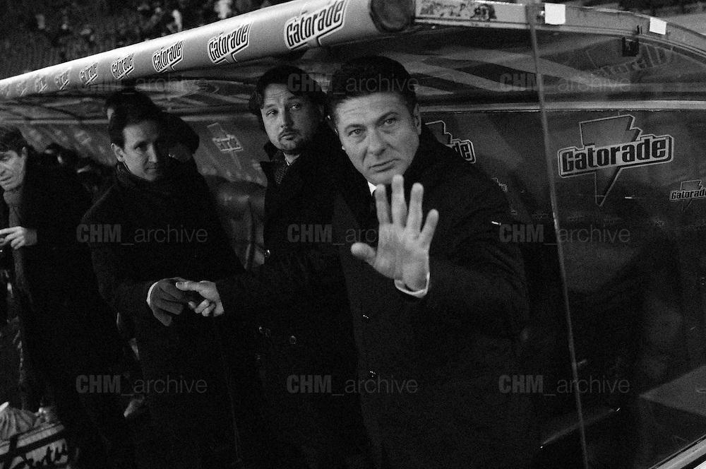 Walter Mazzarri in panchina durante la partita di campionato Lazio vs Napoli. Stadio Olimpico. 9 febbraio 2013. Christian Mantuano / Oneshot