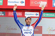 Thibaut Pinot (FRA - Groupama - FDJ) podium during the 73th Edition of the 2018 Tour of Spain, Vuelta Espana 2018, 19th stage Lleida - Andorra 154,4 km on September 14, 2018 in Spain - Photo Luca Bettini / BettiniPhoto / ProSportsImages / DPPI