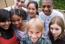 Group of teenagers,