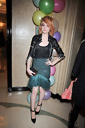Singer NICOLA ROBERTS from Girls Aloud at a party hosted by Mulberry during London fashion Week 2009 at Claridge's Hotel, Brook Street, London on 20th September 2009.