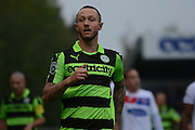 Forest Green Rovers striker Rhys Murphy (39) during the Vanarama National League match between Forest Green Rovers and Dagenham and Redbridge at the New Lawn, Forest Green, United Kingdom on 29 October 2016. Photo by Alan Franklin.