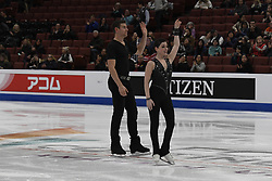 February 8, 2019 - Anaheim, California, U.S - Haven Denney and Brandon Frazier from the USA competes in the Pairs Short Program during the ISU - Four Continents Figure Skating Championships, at the Honda Center in Anaheim California, February 5-10, 2019 (Credit Image: © Dave Safley/ZUMA Wire)