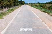 The narrow ribbon road known as Route 66 in Oklahoma. Missoula Photographer