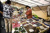 Takayama Asaichi Morning Market - Starting in the Edo period markets of rice, mulberry trees, and flowers, and developed when farmers' wives began to bring produce into town to sell.  These markets came to be known as 'Morning Markets.' There are two or them in Takayama, the Jinyamae Morning Market and Miyagawa Morning Market.