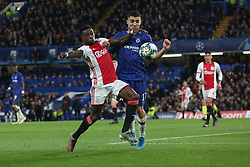 November 5, 2019: AMSTERDAM, NETHERLANDS - OCTOBER 22, 2019: Mateo Kovacic (Chelsea FC) and Quincy Promes (Ajax)  pictured during the 2019/20 UEFA Champions League Group H game between Chelsea FC (England) and AFC Ajax (Netherlands) at Stamford Bridge. (Credit Image: © Federico Guerra Maranesi/ZUMA Wire)