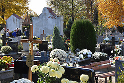 November 2, 2018 - Scinawa, Poland - On November 2, in Poland, Zaduszki Polscy Catholics also visit the graves of their relatives that day (Credit Image: © Piotr Twardysko/ZUMA Wire)