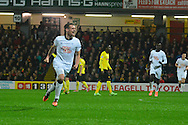 Substitute Craig Bryson possibley scored the winner in the top of the table clash for Derby during the Sky Bet Championship match between Watford and Derby County at Vicarage Road, Watford, England on 22 November 2014.