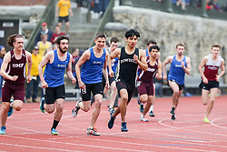 mens 800 meters start, Bowdoin, Maine State Outdoor Track & Field Championships