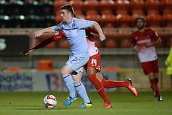 Coventry City's John Fleck runs with the ball - Photo mandatory by-line: Mitchell Gunn/JMP - Tel: Mobile: 07966 386802 08/10/2013 - SPORT - FOOTBALL - Brisbane Road - Leyton - Leyton Orient V Coventry City - Johnstone Paint Trophy
