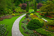 The Butchart Gardens is a group of floral display gardens in Brentwood Bay, British Columbia, Canada, located near Victoria on Vancouver Island. The gardens receive more than a million visitors each year.