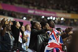 August 13, 2017 - London, STORBRITANNIEN - 170813 Brittiska fans jublar under dag tio av friidrotts-VM den 13 augusti 2017 i London  (Credit Image: © Joel Marklund/Bildbyran via ZUMA Wire)