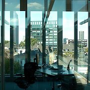 an office and its window view