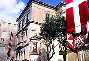 Sign meeting point for tour groups at Mdina, Malta 1998