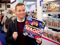 Stephen Mulhern showcasing 'In for a Penny' and 'Rolling in It'  at the Toy Fair 2020 London Photo by Brian Jordan