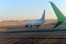 09-07-18 Lanseria Airport. A Safair plane taxis toward takeoff.  Picture: Karen Sandison/African News Agency (ANA)
