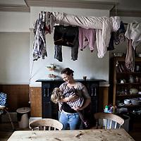 12/10/2012 Leeds - Rowan Martin with her daughter Iris ( 18 months ) at their home in Beeston , Leeds