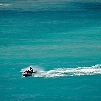 Caribbean, Bahamas, Castaway Cay. Jetski in the Bahamas.