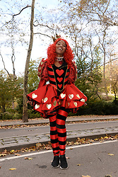 A cast member of the Pirelli 2018 Calendar pose in Central Park before the start of The Pirelli 2018 Calendar by Tim Walker Launch Press Conference at the Pierre Hotel in New York, NY, on November 10, 2017. (Photo by Anthony Behar/Sipa USA)