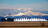 The Continental Divide is seen in the background of Denver International Airport outside Denver, Colorado U.S. November 24, 2017.  REUTERS/Rick Wilking