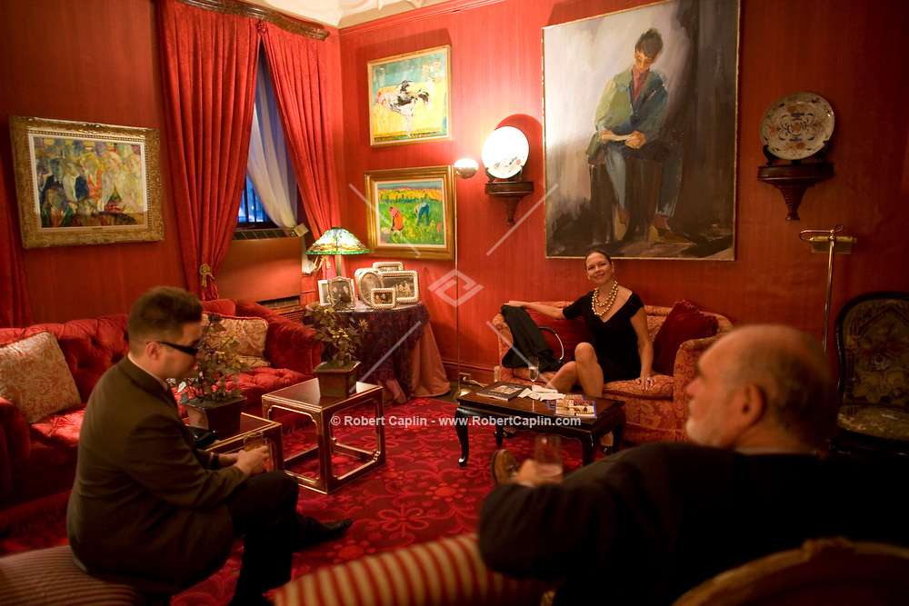 The Last Party at William F. Buckley's Apartment in New York, U.S. as part of an open house for the house-buyers, art-buyers, and friends of Buckley.  June 18, 2008. Robert Caplin For The New York Times