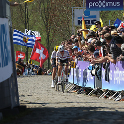 03-04-2016: Wielrennen: Ronde van Vlaanderen vrouwen: Oudenaarde  <br />OUDENAARDE (BEL) cycling  <br />The sixth race in the UCI Womensworldtour is the ronde van Vlaanderen. A race over the famous Flemish climbs. The leader on the Paterberg