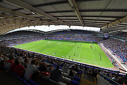 Warrington Wolves take on Leeds Rhinos during the Ladbrokes Challenge Cup Semi Final match at the Macron Stadium, Bolton.