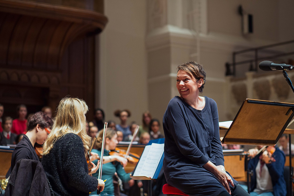 BAFTA-winning actress Olivia Colman at Cadogan Hall, Chelsea, London on Wednesday 18th December 2013.<br /> <br /> OLIVIA COLMAN AT CADOGAN HALL REHEARSAL FOR FRIDAY CONCERT<br /> BAFTA-winning actress Olivia Colman, who will be narrating this Friday's double-bill The Snow Queen and The Griffin And The Grail at the Cadogan Hall, will be rehearsing there with the ensemble on Wednesday 18th December.